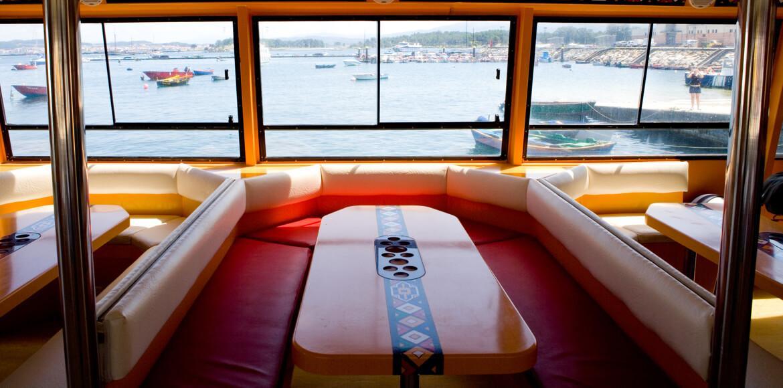 Mesas con vistas al mar