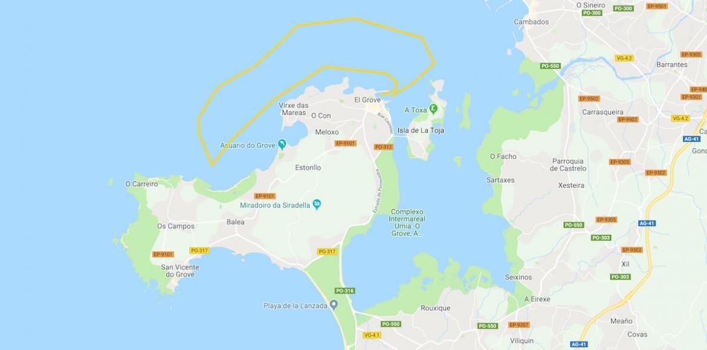 mapa de la ruta restaurante marinero