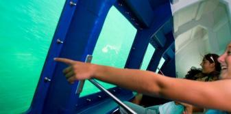 Barco con visión submarina